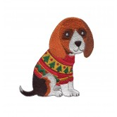 Beagle Cool Cats and Dogs Embroidery Design