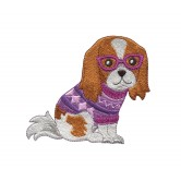 Dog Sweater Cool Cats and Dogs Embroidery Design