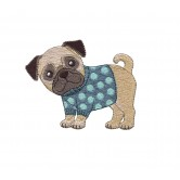 Pug Cool Cats and Dogs Embroidery Design