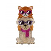 Cool Cat and Dog Cool Cats and Dogs Embroidery Design