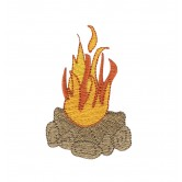 Camp Fire Camping Capers Embroidery Design