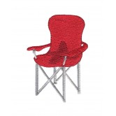 Camp Chair Camping Capers Embroidery Design