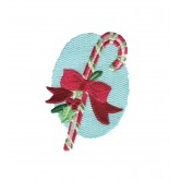 Candy Cane and Ribbon Snowfolk Embroidery Design