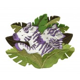 Zebras In Leaves Welcome Home Embroidery Design