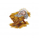 Baby Jesus The Nativity Story Embroidery Design