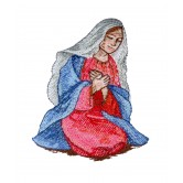 Mary The Nativity Story Embroidery Design
