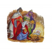 Bestowing Gifts The Nativity Story Embroidery Design