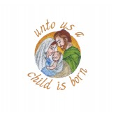 A Child is Born The Nativity Story Embroidery Design