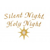 Silent Night The Nativity Story Embroidery Design