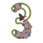 3 Blooming Applique Alphabet Embroidery Design