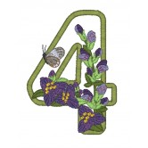 4 Blooming Applique Alphabet Embroidery Design