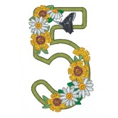 5 Blooming Applique Alphabet Embroidery Design
