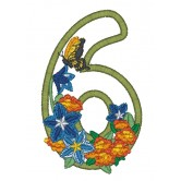 6 Blooming Applique Alphabet Embroidery Design