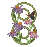 8 Blooming Applique Alphabet Embroidery Design
