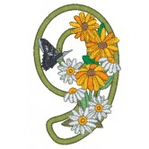 9 Blooming Applique Alphabet Embroidery Design