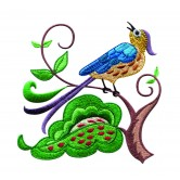 A Birds Paradise Jf307 Embroidery Design