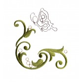 Baroque Swirls and Butterflies Embroidery Design Collection