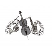 Artistic Music Embroidery Design Collection