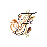 Autumn Alphabet Embroidery Design Collection