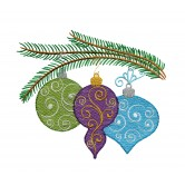 Iridescent Christmas Ornaments Design Collection