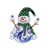 Iridescent Snowmen Embroidery Designs