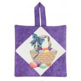 Easter Basket Pot Holder Embroidery Design