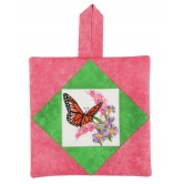 Butterfly Pot Holder Embroidery Design