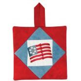 Americana Flag Pot Holder Embroidery Design