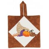 Cornucopia Pot Holder Embroidery Design
