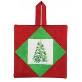 Christmas Tree Pot Holder Embroidery Design