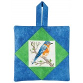 Bluebird Pot Holder Embroidery Design