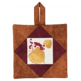 Autumn Leaves Pot Holder Embroidery Design