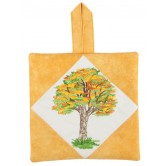 Fall Tree Pot Holder Embroidery Design