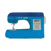 Blue Sewing Machine In Stitches Embroidery Design