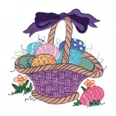 Easter Egg Basket with Eggs