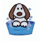 Puppy in a Bath
