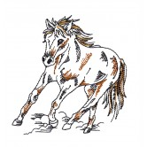 Picturesque Prairie Horses Embroidery Design Collection
