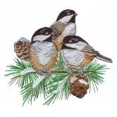 Chickadee Symphony Embroidery Designs