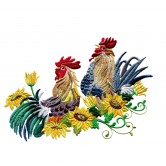Rise and Shine Roosters Embroidery Design Collection