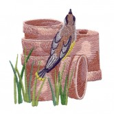 Bird On Clay Pot