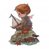 Boy and Sailboat
