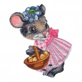 Girl Mouse Holding Basket