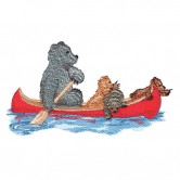Bear In Canoe