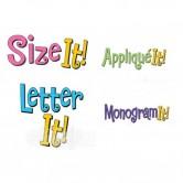 Letter It! Monogram It! Size It! Applique It! Demo
